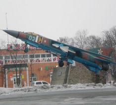 Поселок Угловое.  МиГ-23МЛД